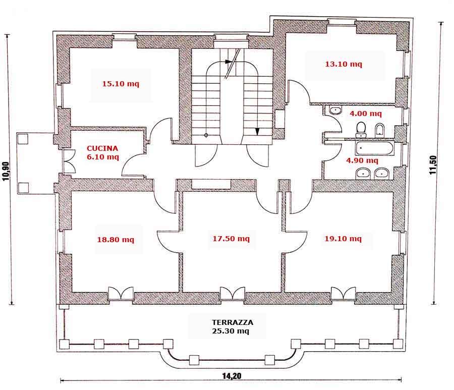 Tavola 1 for Seminterrato solo piani di casa